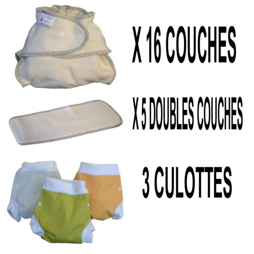 Start Pack, 16 couches lavables Evolutive Modulo Bio (coton bio) + 3 Lulu Boxer M - mixte