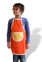 tablier imperméable enfant Orange