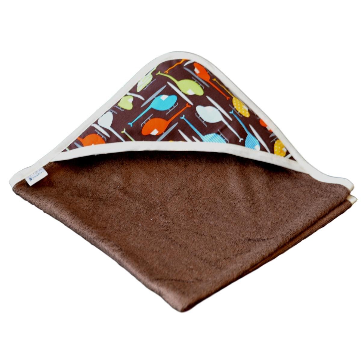 cape de bain bambou all color chocolat capuche h licopt re. Black Bedroom Furniture Sets. Home Design Ideas