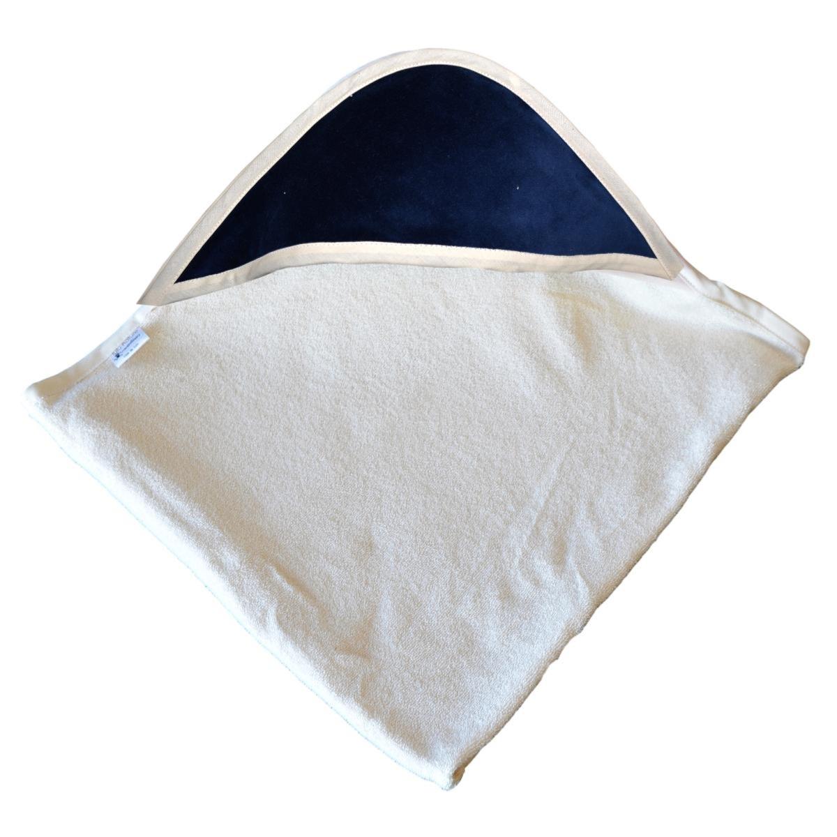 cape de bain bambou capuche marine. Black Bedroom Furniture Sets. Home Design Ideas