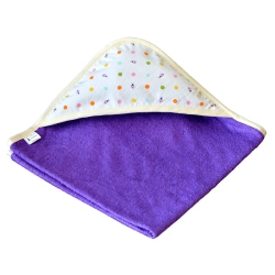 cape de bain bambou all color Violet Capuche Coccinelle
