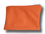 pochette à zip, trousse de toilette et maquillage, FEMINI - Orange