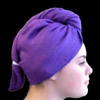 serviette s che cheveux bambou violet. Black Bedroom Furniture Sets. Home Design Ideas