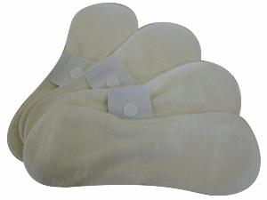 Lot 4 protege slip lavable - Coton Bio