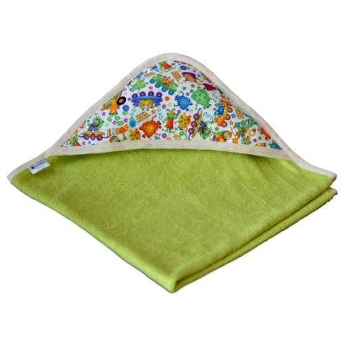 cape de bain bambou all color Vert- Capuche Monstre